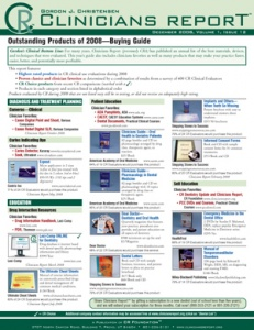 CR Buying Guide: Clinicians Report December 2008, Volume 1 Issue 12 - 200812 - Dental Reports