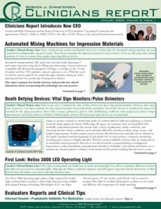 Automated Mixing Machines for Impression Materials, Pulse Oximeters, Helios 3000 LED, January 2009 V - 200901 - Dental Reports
