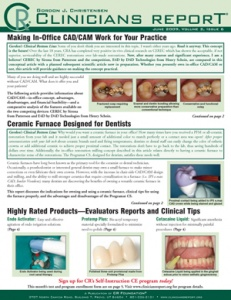 Clinicians Report June 2009, Volume 2 Issue 6 - 200906 - Dental Reports