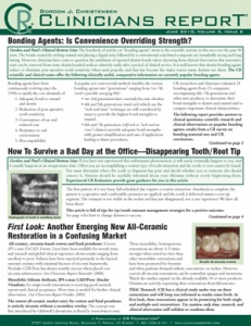 Bonding Agents, Disappearing Tooth / Root Tip, All Ceramic Restoration- June 2010 Volume 3 Issue 6 - 201006 - Dental Reports