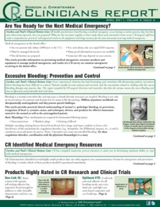 Excessive Bleeding, Dental Medical Emergency Resources- April 2011 Volume 4 Issue 4 - 201104 - Dental Reports