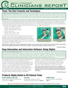 Clinicians Report August 2011, Volume 4 Issue 8 - 201108 - Dental Reports
