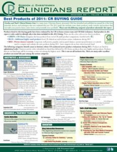 CR Buying Guide: Clinicians Report December 2011, Volume 4 Issue 12 - 201112 - Dental Reports