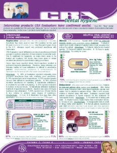 Dental Hygiene Newsletter July/August 2002, Volume 2 Issue 4 - h200207 - Hygiene Reports