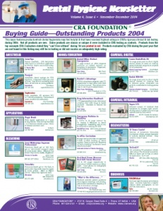 Buying Guide: Dental Hygiene Newsletter November/December 2004, Volume 4 Issue 6 - h200411 - Hygiene Reports