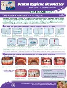 Prescription Dentifrices- September/October 2005 Volume 5 Issue 5 - h200510 - Hygiene Reports