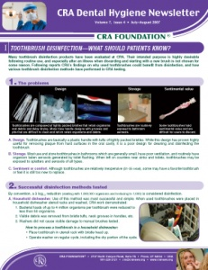 CRA Dental Hygiene Newsletter July/August 2007, Volume 7 Issue 4 - h200708 - Hygiene Reports