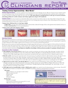 Treating Cervial Hypersensitivity, Highly Rated Products- May/June 2009 Volume 2 Issue 3 - h200906 - Hygiene Reports