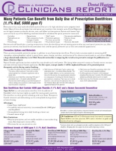 Prescription Dentifrices, Highly Rated Products- May/June 2010 Volume 3 Issue 3 - h201006 - Hygiene Reports