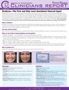 Dental Hygiene Clinicians Report September/October 2010, Volume 3 Issue 5 - h201010 - Hygiene Reports