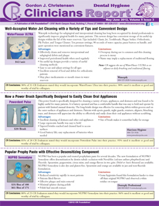 Dental Hygiene Clinicians Report May/June 2012, Volume 5 Issue 3 - h201206 - Hygiene Reports