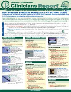 CR BUYING GUIDE: Best Products Evaluated During 2012 – December 2012 Volume 5 Issue 12 - 201212 - Dental Reports