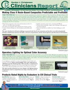 Making Class II Resin-Based Composites Predictable and Profitable, Operatory Lighting for Optimal Color Accuracy – February 2014 Vol 7 Issue 2 - 201402 - Dental Reports