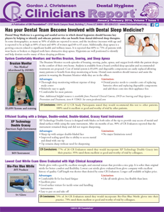 Dental Hygiene Clinicians Report January/February 2014 Volume 7 Issue 1 - h201402 - Hygiene Reports