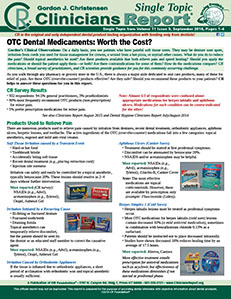 OTC Dental Medicaments