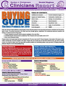 CR BUYING GUIDE: Dental Hygiene Clinicians Report November/December 2018, Volume 11 Issue 6 - h2018012