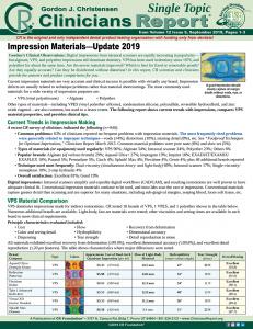 Impression Materials 0919 ST