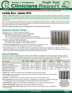 Carbide Burs 1019 ST