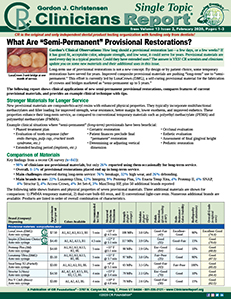 Semi-Permanent Provisionals 0220 ST