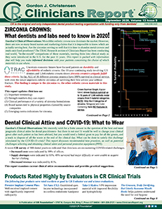 Clinicians Report September 2020, Volume 13 Issue 9 - 202009 - Dental Reports