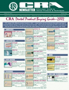 Buying Guide- January 2002 Volume 26 Issue 1 - 200201 - Dental Reports