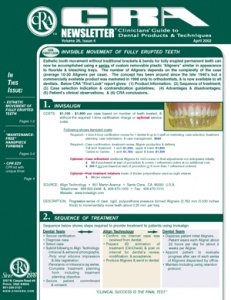 CRA Newsletter April 2002, Volume 26 Issue 4 - 200204 - Dental Reports
