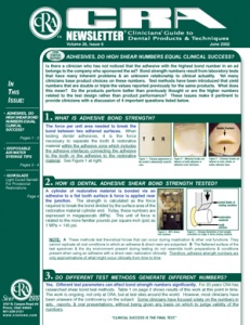 Adhesives, Disposable Syringe Tips- June 2002 Volume 26 Issue 6 - 200206 - Dental Reports