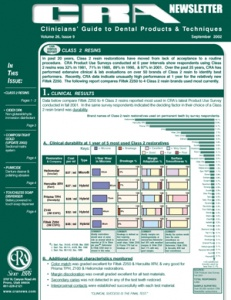 CRA Newsletter September 2002, Volume 26 Issue 9 - 200209 - Dental Reports