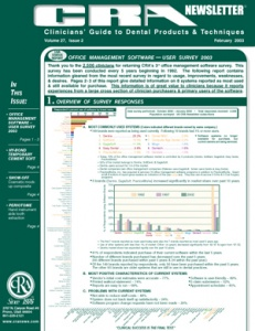 CRA Newsletter February 2003, Volume 27 Issue 2 - 200302 - Dental Reports