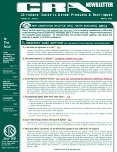 CRA Newsletter March 2003, Volume 27 Issue 3 - 200303 - Dental Reports