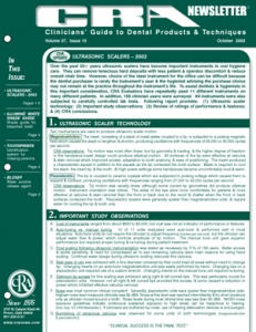 CRA Newsletter October 2003, Volume 27 Issue 10 - 200310 - Dental Reports